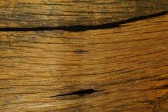 Textur av gammalt trä med korn Royaltyfria Bilder