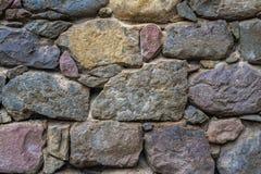 Textur av gammalt vaggar väggen för bakgrund, medeltida stenvägg Arkivbilder