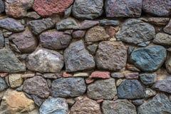 Textur av gammalt vaggar väggen för bakgrund, medeltida stenvägg Royaltyfri Foto