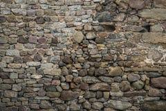 Textur av gammalt vaggar väggen för bakgrund, medeltida stenvägg Royaltyfria Foton