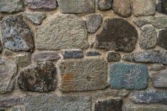 Textur av gammalt vaggar väggen för bakgrund, medeltida stenvägg Fotografering för Bildbyråer