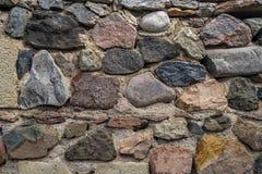 Textur av gammalt vaggar väggen för bakgrund, medeltida stenvägg Arkivfoton