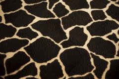 Textur av girafftextilen Arkivfoton