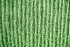 Textur av grön säckväv lin Textilbakgrundsslut upp Macr Fotografering för Bildbyråer