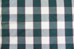Textur av grönt - vitt rutigt tyg arkivfoton