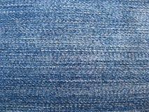 Textur av grov bomullstvilltygblått Fotografering för Bildbyråer