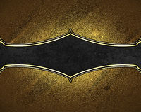 Textur av guld med den svarta plattan Beståndsdel för design Mall för design kopiera utrymme för annonsbroschyr eller meddelandei Royaltyfria Bilder