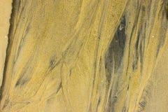 Textur av guld- sand Royaltyfria Bilder
