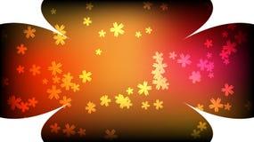 Textur av härliga festliga runda kosmiska magiska mång--färgade virvlande runt blommor för kulör långväga ljus gul narrdräkt med  stock illustrationer