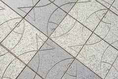 Textur av h?rliga utomhus- tegelplattor med fisken _ arkivfoton