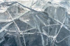 Textur av isyttersida, sprucket sväva för is Fotografering för Bildbyråer
