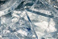Textur av isyttersida, sprucket sväva för is Arkivbild