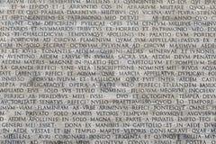 Textur av latinska ord Arkivfoton