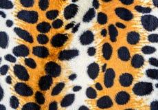 Textur av leopardhud Arkivbilder