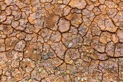 Textur av lerartad torr sprucken jord Abstrakt begrepp Royaltyfri Fotografi