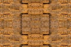 Textur av många baler av hö Arkivfoto