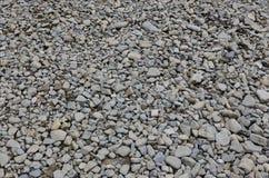 Textur av många krossade stenar Den krossade stenen är ett fast grundmaterial för fundament Arkivbilder