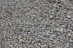Textur av många krossade stenar Den krossade stenen är ett fast grundmaterial för fundament Royaltyfria Foton
