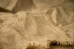 Textur av materiell bakgrundshessians för säckväv Royaltyfri Bild