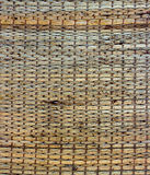 Textur av matt bakgrund för infödd thai stilvävstarrgräs Royaltyfria Bilder