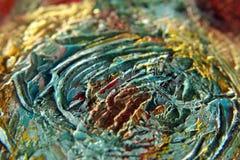 Textur av olje- målarfärg Arkivfoto