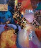 Textur av olje- målning, författare som målar Roman Nogin abstrakt målning Royaltyfria Bilder