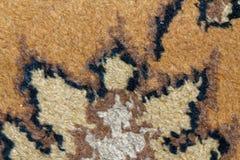 Textur av persisk matta, abstrakt makroprydnad Mitt - östlig traditionell matttygbakgrund Royaltyfri Bild