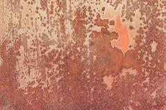Textur av röd rost Fotografering för Bildbyråer
