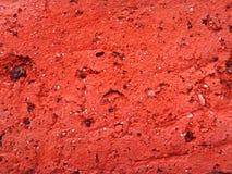 Textur av röd tegelsten i närbild Royaltyfri Fotografi