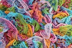 Textur av regnbågeärmlös tröja Fotografering för Bildbyråer