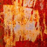 Textur av rostat stål Fotografering för Bildbyråer