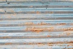 Textur av rostig zink i silverfärg Royaltyfri Bild
