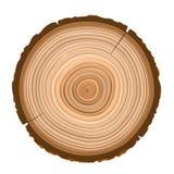 Textur av sågat wood objekt för mörk brunt Arkivfoton