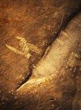 Textur av sandsten vaggar med spår Royaltyfria Foton