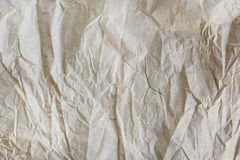 Textur av skrynkligt återanvänt papper Royaltyfria Bilder