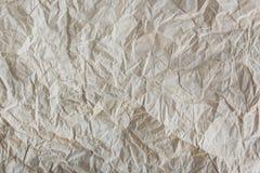 Textur av skrynkligt återanvänt papper Arkivbilder