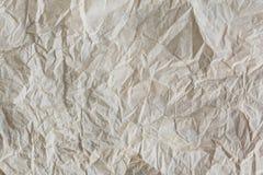 Textur av skrynkligt återanvänt papper Royaltyfri Fotografi