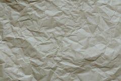 Textur av skrynkligt kraft papper royaltyfria foton