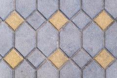 Textur av slutet för golv för tegelstenstenmodell upp fotografering för bildbyråer
