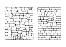 Textur av stenar Stenvägg från fastställd vektor för kvarter royaltyfri illustrationer