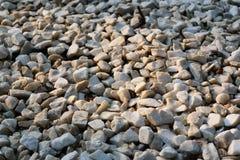 Textur av stenspillror Arkivbilder