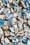 Textur av stenspillror Arkivfoto