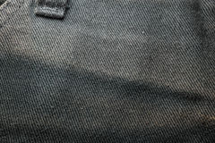 textur av svart jean Royaltyfria Bilder