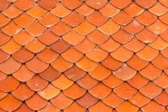 Textur av taket, textur av det bruna taket i tempel Royaltyfria Foton