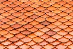 Textur av taket, textur av det bruna taket i tempel Arkivfoto