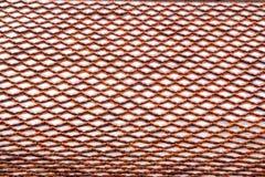 Textur av taket, textur av det bruna taket i templ Fotografering för Bildbyråer