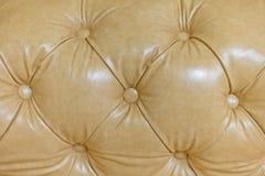 Textur av tappning knäppas stilfull stoppning för läder Backgrou Arkivfoton