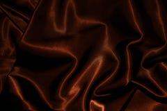 Textur av torkdukechoklad - brun satängsilk Arkivbild