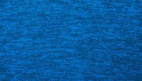 Textur av tyg blå textil Fotografering för Bildbyråer
