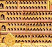 Textur av väggarna i en buddistisk tempel kathmandu Fotografering för Bildbyråer